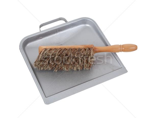 Poeira panela escove limpeza conjunto trabalhar Foto stock © michaklootwijk