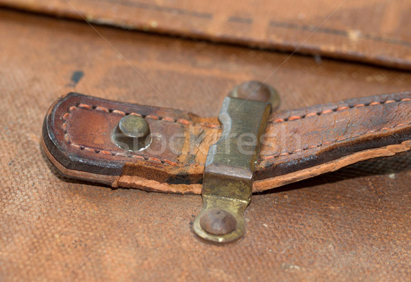 Old canvas trunk handle close up Stock photo © michaklootwijk