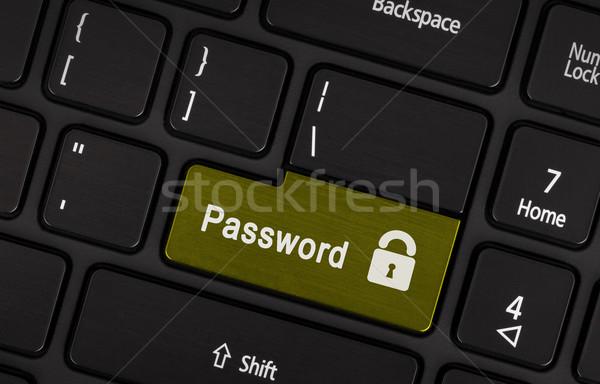 Text Kennwort Taste schwarz Laptop-Tastatur Business Stock foto © michaklootwijk