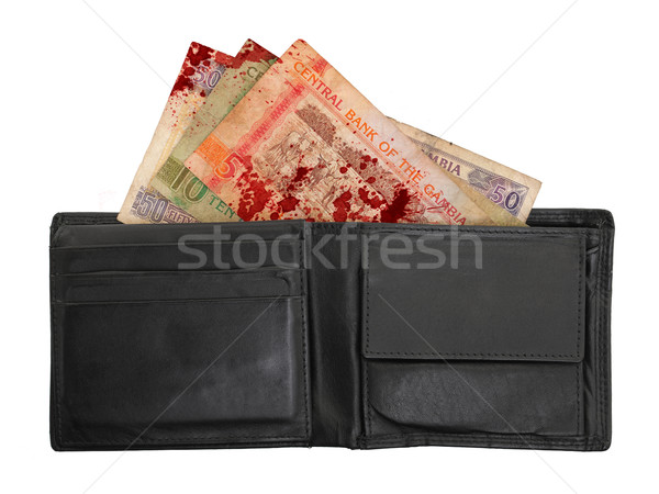 Gambian dalasi bank notes, blood Stock photo © michaklootwijk