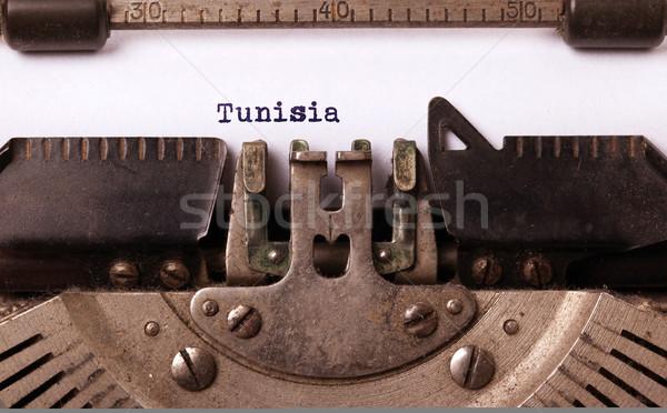 Old typewriter - Tunisia Stock photo © michaklootwijk