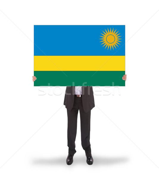 бизнесмен большой карт флаг Руанда Сток-фото © michaklootwijk