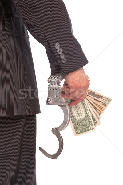 Business man in handcuffs arrested for bribe Stock photo © michaklootwijk