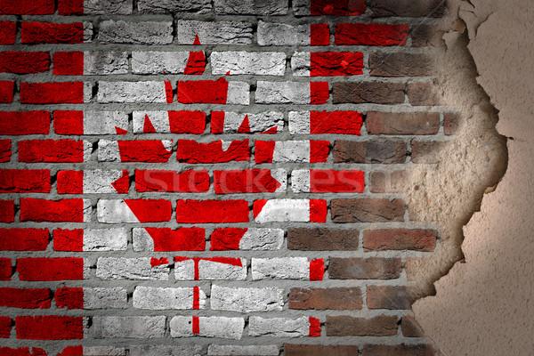 Sombre mur de briques plâtre Canada texture pavillon Photo stock © michaklootwijk