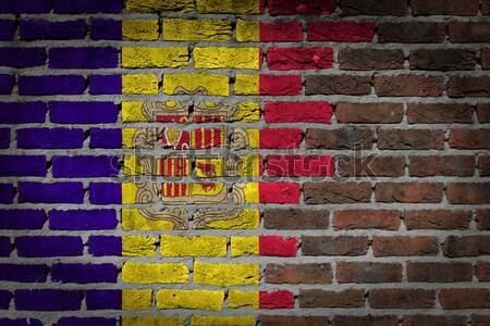 Buio muro di mattoni diritti Maryland texture bandiera Foto d'archivio © michaklootwijk