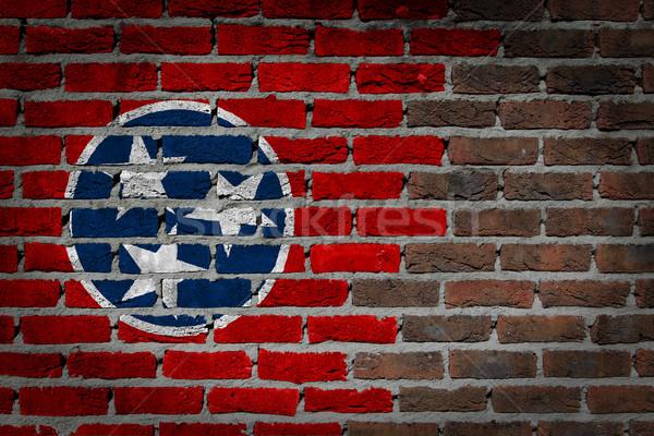 Sombre mur de briques Tennessee texture pavillon peint Photo stock © michaklootwijk
