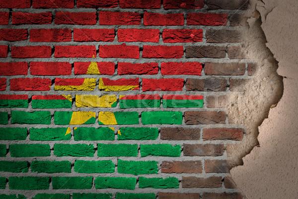 Dark brick wall with plaster - Burkina Faso Stock photo © michaklootwijk