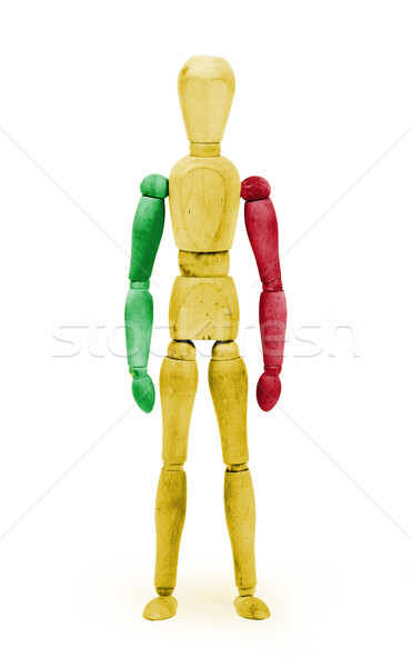 Wood figure mannequin with flag bodypaint - Mali Stock photo © michaklootwijk