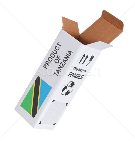 экспорт продукт Танзания бумаги окна Сток-фото © michaklootwijk