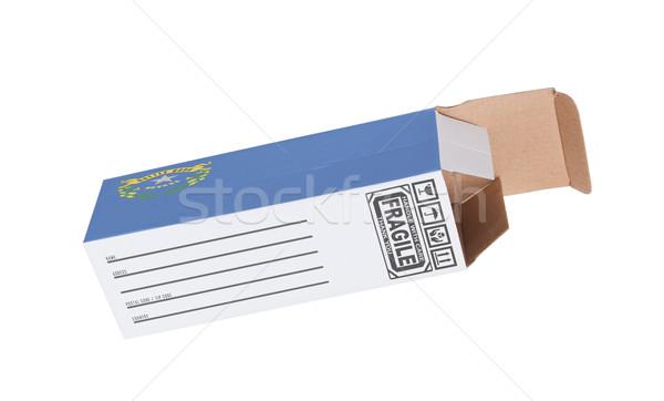 Ihracat ürün Nevada kâğıt kutu Stok fotoğraf © michaklootwijk