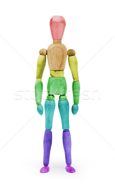 Wood figure mannequin with bodypaint - Rainbow flag Stock photo © michaklootwijk