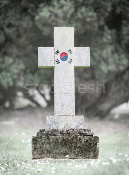 Gravestone in the cemetery - South Korea Stock photo © michaklootwijk