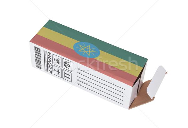 экспорт продукт Эфиопия бумаги окна Сток-фото © michaklootwijk