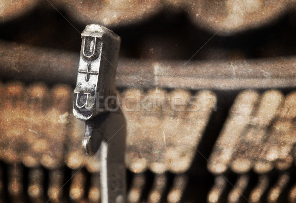 U hammer - old manual typewriter - warm filter Stock photo © michaklootwijk