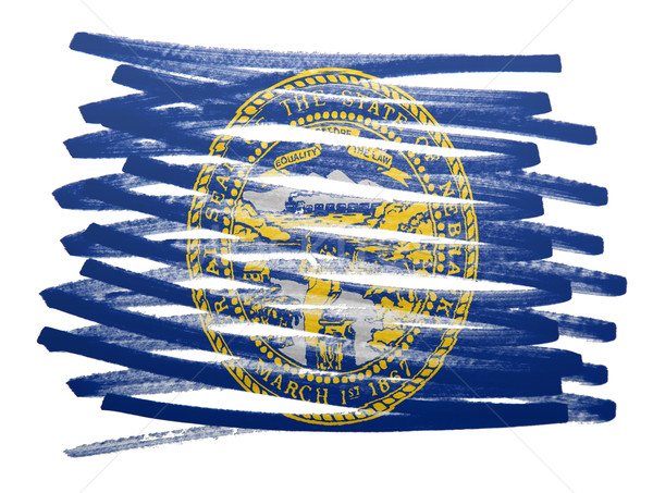 Bandeira ilustração Nebraska caneta negócio pintar Foto stock © michaklootwijk