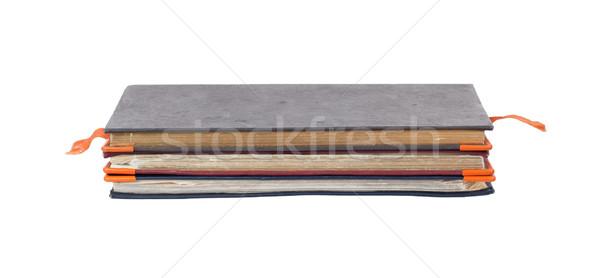 スタック 孤立した 白 ビジネス 図書 背景 ストックフォト © michaklootwijk