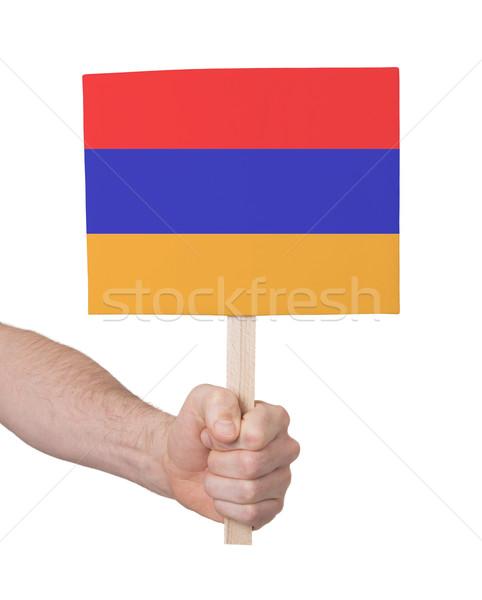 手 小 カード フラグ アルメニア ストックフォト © michaklootwijk