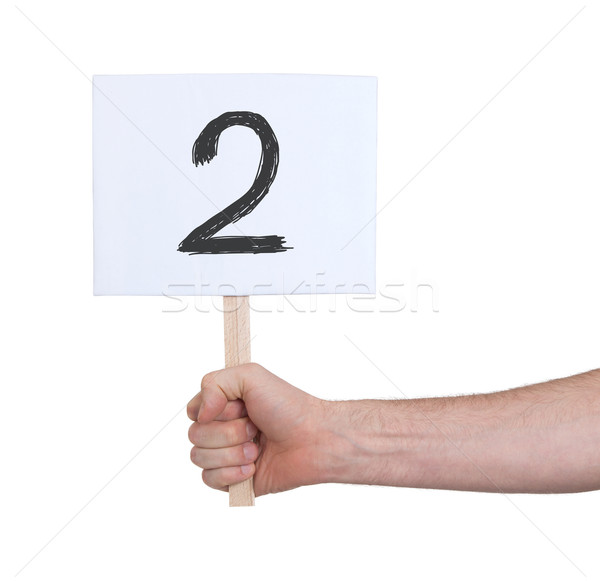 Sign with a number, 2 Stock photo © michaklootwijk