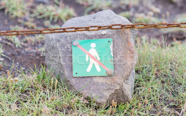 Proibido andar aqui assinar natureza verde Foto stock © michaklootwijk