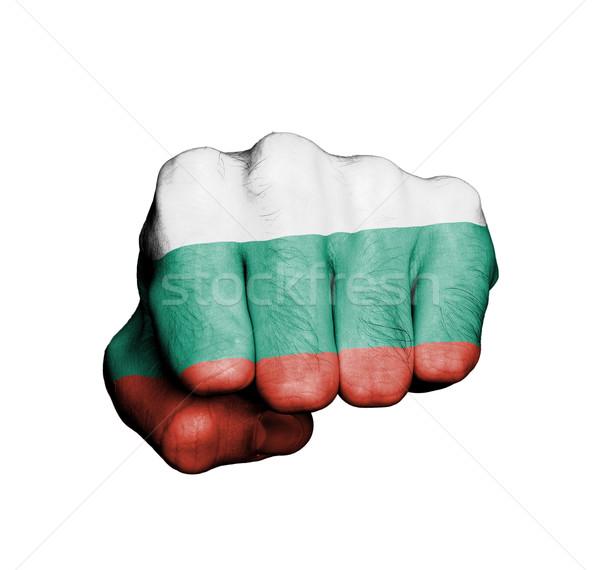 Görmek yumruk afiş Bulgaristan el Stok fotoğraf © michaklootwijk