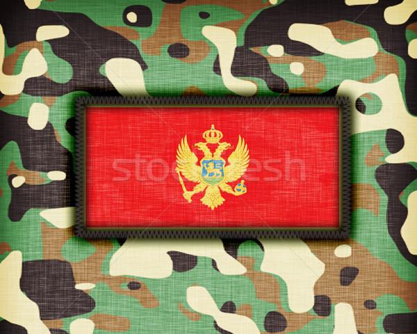 álca egyenruha Montenegró zászló textúra absztrakt Stock fotó © michaklootwijk