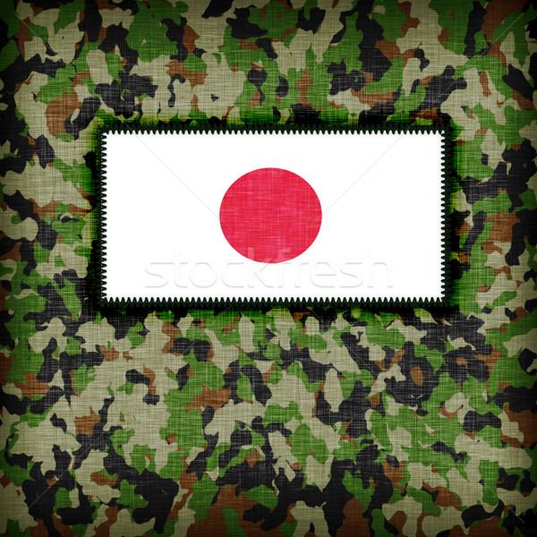 Tarnung einheitliche Japan Flagge Textur abstrakten Stock foto © michaklootwijk