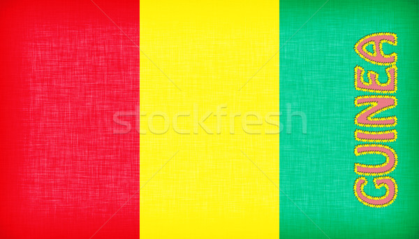 Flag of Guinea stitched with letters Stock photo © michaklootwijk