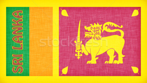 Linen flag of Sri Lanka Stock photo © michaklootwijk