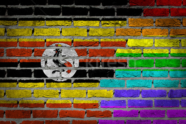 Dark brick wall - LGBT rights - Uganda Stock photo © michaklootwijk