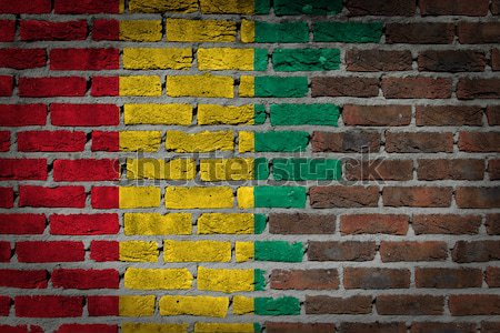 темно кирпичная стена правые Болгария текстуры флаг Сток-фото © michaklootwijk