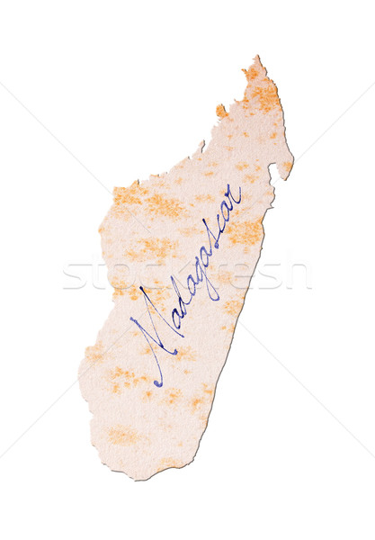 Old paper with handwriting - Madagascar Stock photo © michaklootwijk
