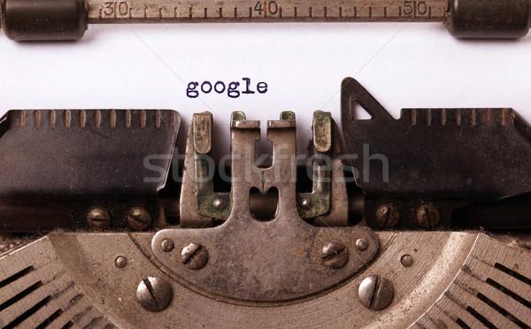 Vintage opschrift oude schrijfmachine google abstract Stockfoto © michaklootwijk