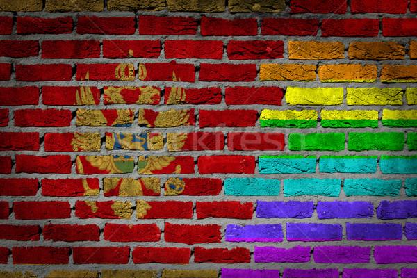 Dark brick wall - LGBT rights - Montenegro Stock photo © michaklootwijk