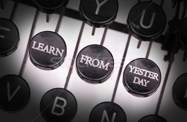 Macchina da scrivere speciale pulsanti imparare chiave retro Foto d'archivio © michaklootwijk