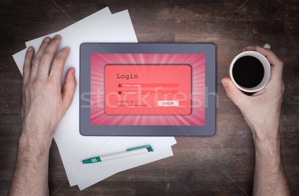 Login interface comprimido nome de usuário senha rosa Foto stock © michaklootwijk