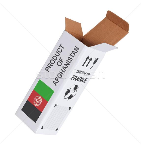 экспорт продукт Афганистан бумаги окна Сток-фото © michaklootwijk