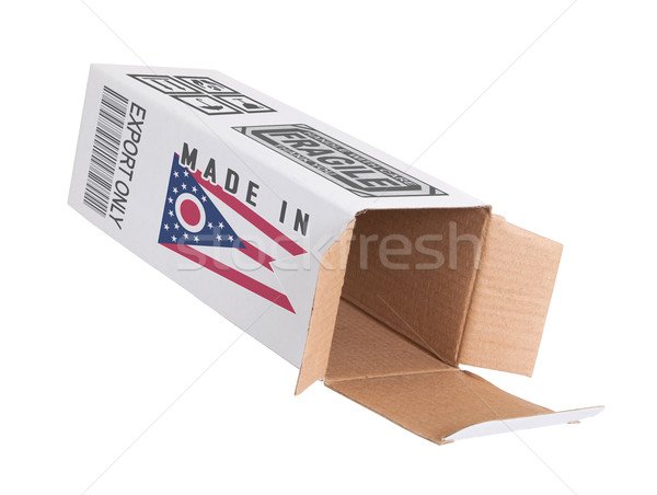 Export termék Ohio kinyitott papír doboz Stock fotó © michaklootwijk