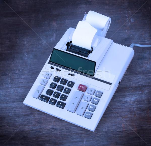 Starych brudne Kalkulator biurko zimno Zdjęcia stock © michaklootwijk