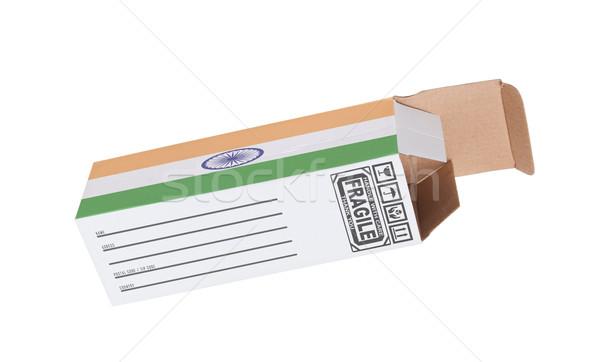 Exporter produit Inde papier boîte Photo stock © michaklootwijk