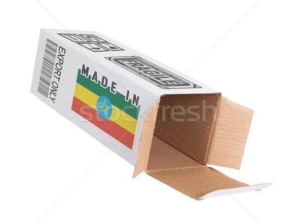 Exportar produto Etiópia papel caixa Foto stock © michaklootwijk