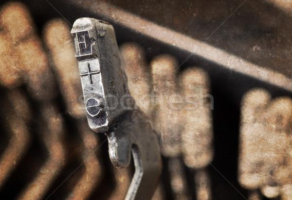 E hammer - old manual typewriter - warm filter Stock photo © michaklootwijk