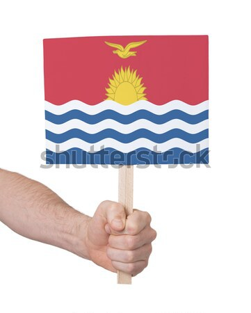 Hand holding small card - Flag of Albania Stock photo © michaklootwijk