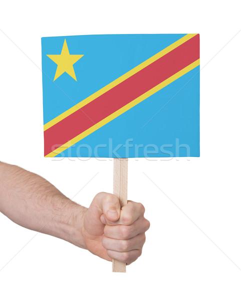 Strony mały karty banderą Congo Zdjęcia stock © michaklootwijk