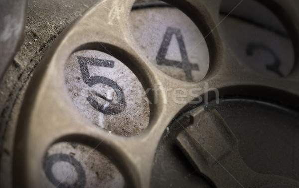 Close up of Vintage phone dial - 5 Stock photo © michaklootwijk