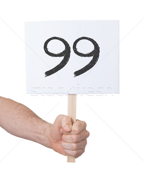 Sign with a number, 99 Stock photo © michaklootwijk