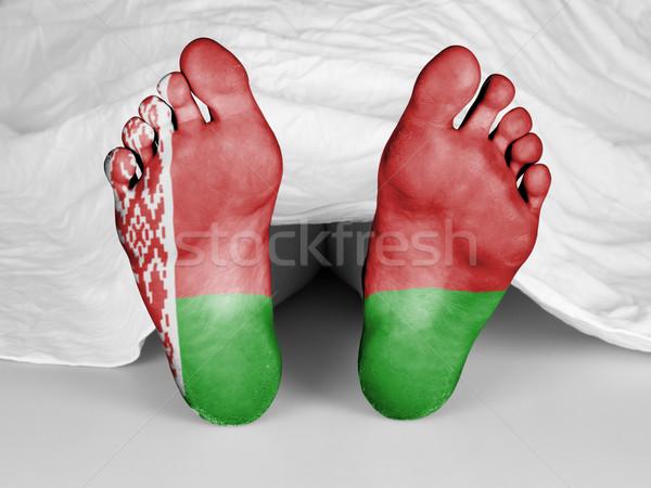 Lijk witte vel vlag Wit-Rusland vrouw Stockfoto © michaklootwijk