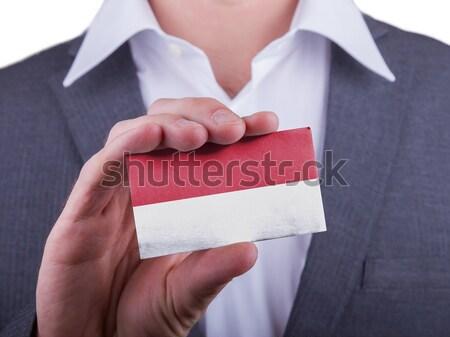 Biznesmen karty papieru efekt Zdjęcia stock © michaklootwijk