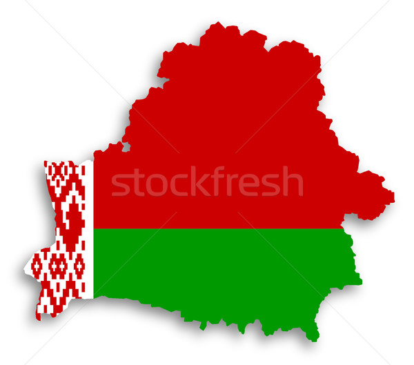 Map of Belarus filled with flag Stock photo © michaklootwijk