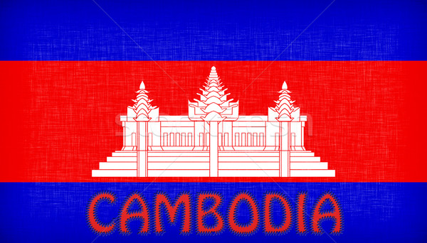 Flag of Cambodia stitched with letters Stock photo © michaklootwijk