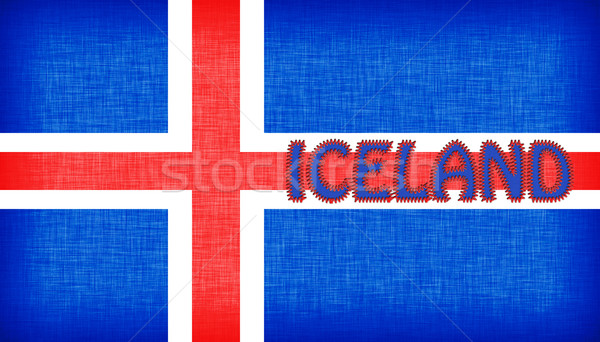 Flag of Iceland stitched with letters Stock photo © michaklootwijk